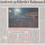 """""""(...) in Ulm bietet sich die Möglichkeit des Anschlusses an die (...) europäische Magistrale Paris-Stuttgart-München-Wien-Budapest. (...) Zudem soll die Strecke Ulm-Lindau elektrifiziert werden."""""""