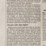 """der Standard 30.07.2013 """"Bregenzer Initiative will Bahn weg vom See"""""""