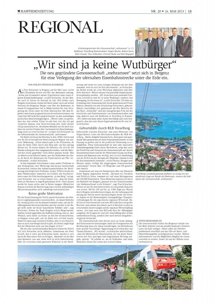 Raiffeisenzeitung 16.5.2013