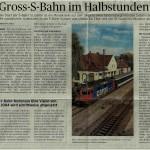 Gross-S-Bahn im Halbstundentakt, St. Galler Tagblatt 14.09.2013