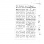 Gueterverkehr St. GAllen-Ulm-München, St. Galler Tagblatt  29.10.2013