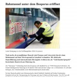 Bahntunnel unter dem Bosporus eröffnet, St. Galler Tagblatt Online 29.10.2013