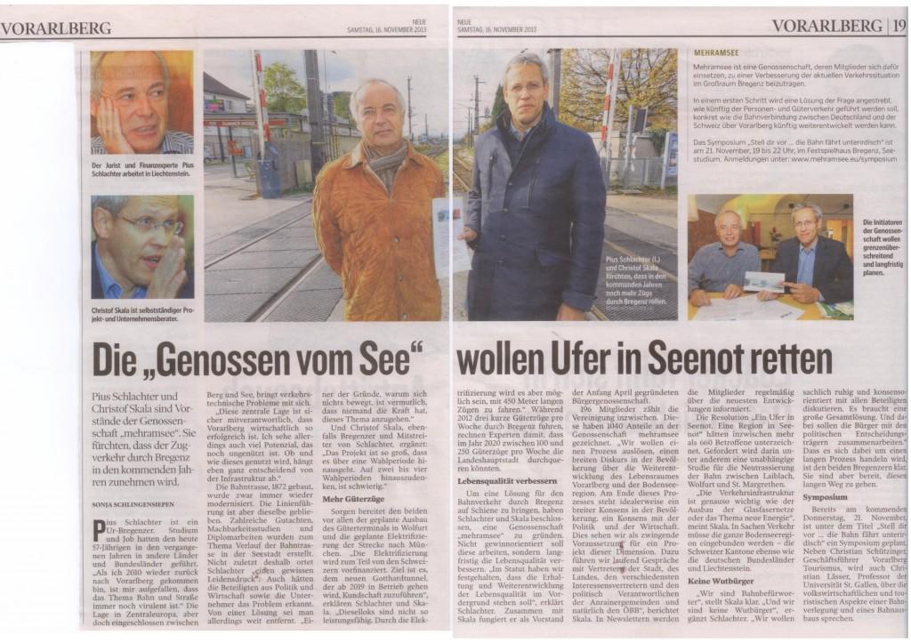 """Die """"Genossen vom See"""" wollen Ufer in Seenot retten, 16.11.2013 NEUE"""