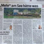 """Ein """"Mehr"""" am See hätte was, 12.11.2013 VN"""