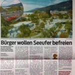 Bürger Wollen Seeufer befreien, VN 12.12.2013