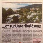 """""""Ja"""" zur Unterflurlösung, VN 13.12.2013"""