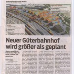 Neuer Güterbahnhof wird größer als geplant, VN 17.3.2014