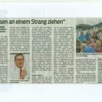"""""""Müssen an einem Strang ziehen"""", VN 08.03.2014"""