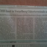 ÖBB baut in Vorarlberg Güterterminals aus, 13.6.2014 Der Standard