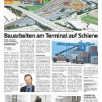 Bauarbeiten am Terminal auf Schiene, 20.01.2015 - VN
