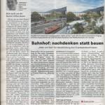Bahnhof: nachdenken statt bauen, 25.04.2019 - Blättle