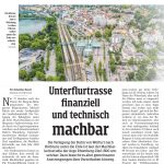 Unterflurtrasse finanziell und technisch machbar, 6.7.2021, NEUE